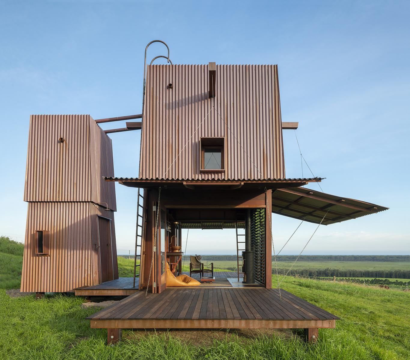 Permanent Camping Two is a tiny home which allows its occupants to enjoy camping but with some creature comforts