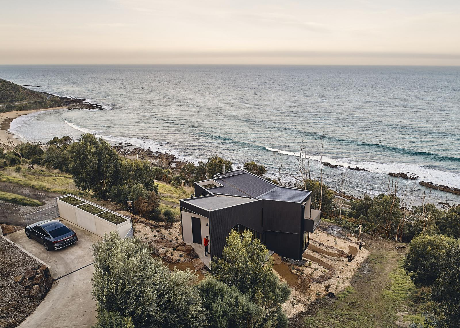 The Y House is designed to capture stunning coastal views