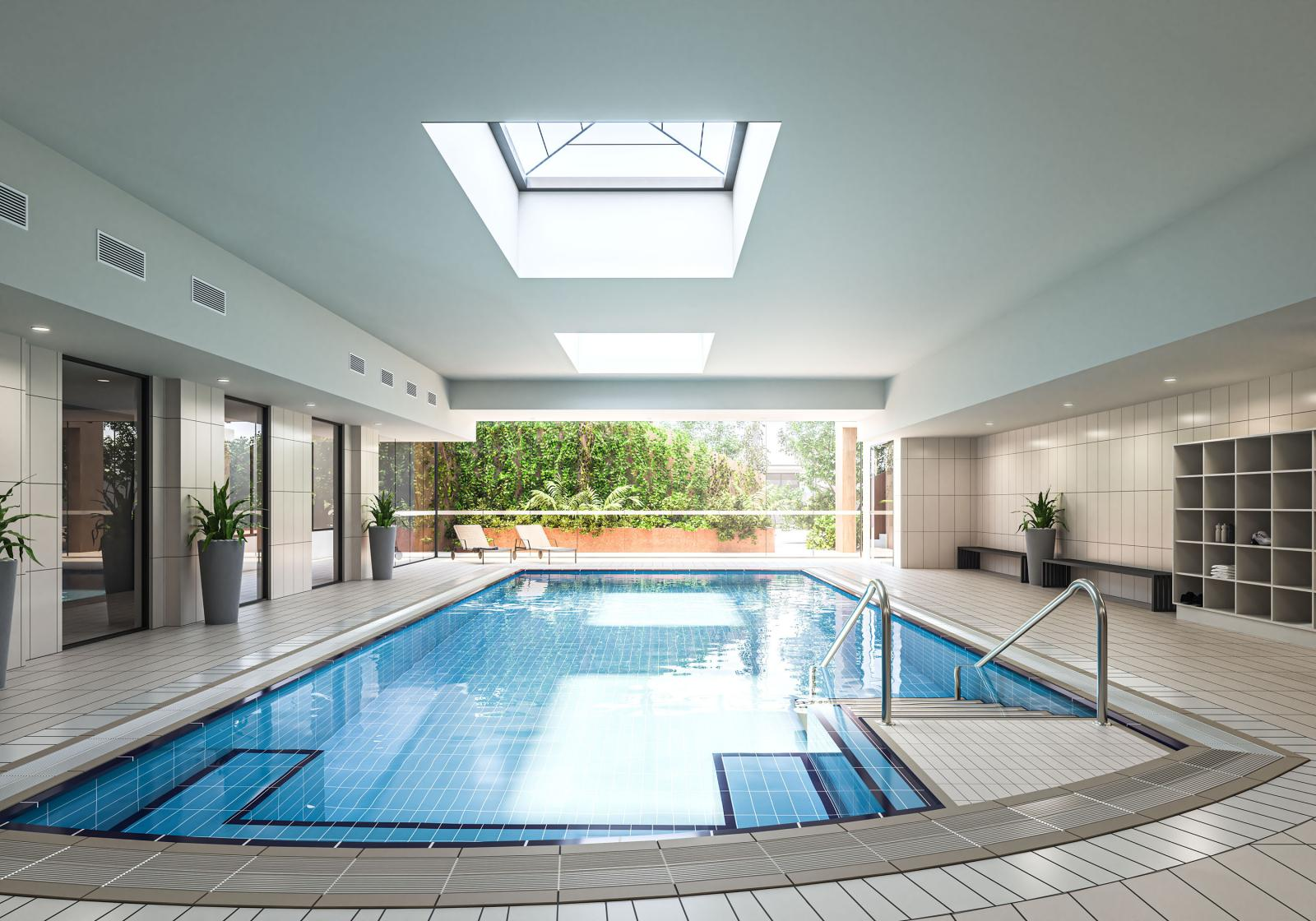 Pool at the Yarra Rossa retirement living project in Canberra
