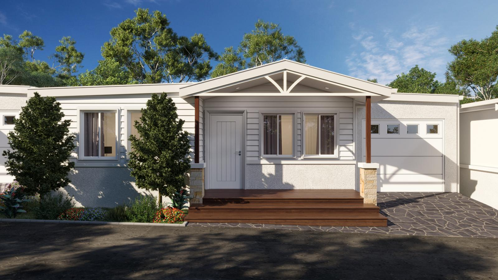 An artist's impression of the lakeside homes at Sunnylake Shores