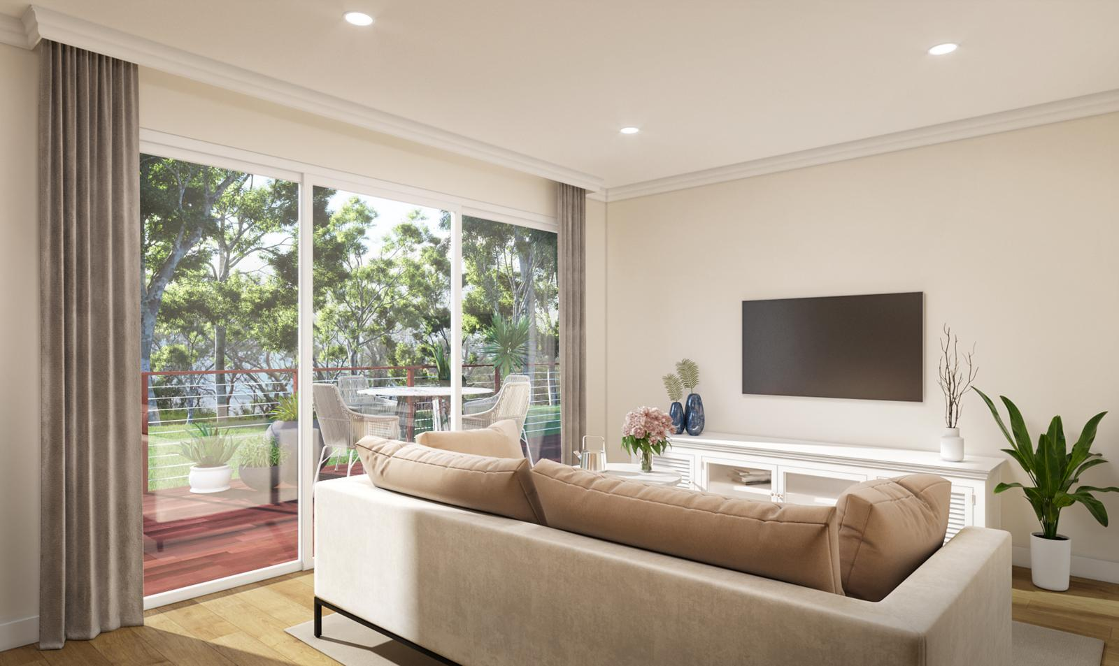 An interior artist's impression of one of the lakeside homes at Sunnylake Shores